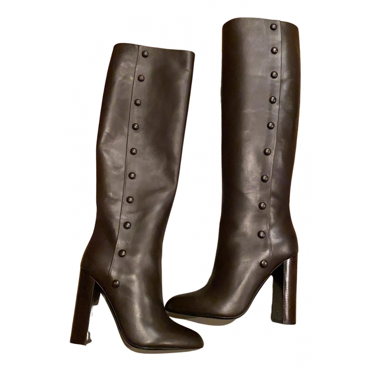 Tom Ford N Brown Leather Boots for Women 39 EU