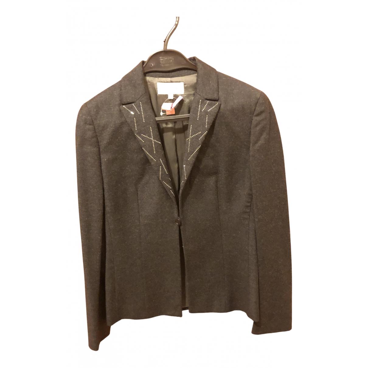 Valentino Garavani N Grey Wool jacket for Women 38 IT