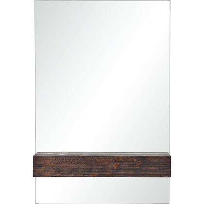 Kali Collection MT2193 24 x 36 Rectangle Shaped Mirror in Dark Brown
