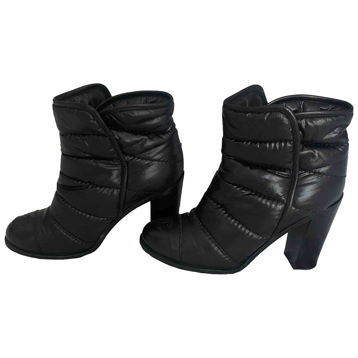 Chanel \N Black Leather Boots for Women 37 EU