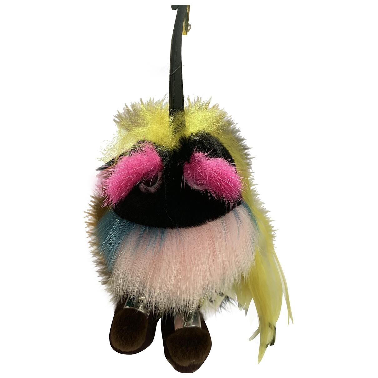 Fendi - Bijoux de sac   pour femme en racoon - multicolore