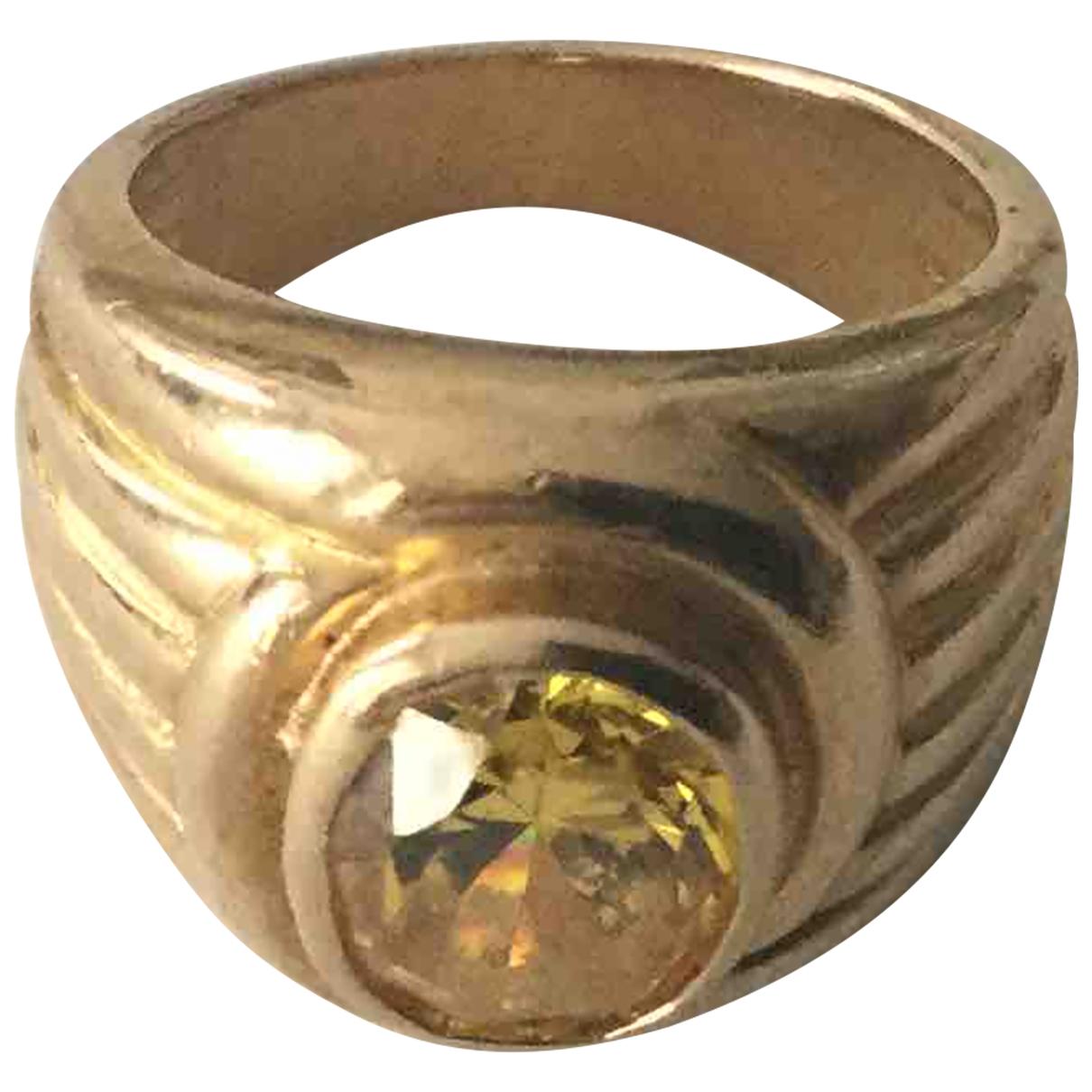 - Bague Chevalieres pour femme en plaque or - jaune
