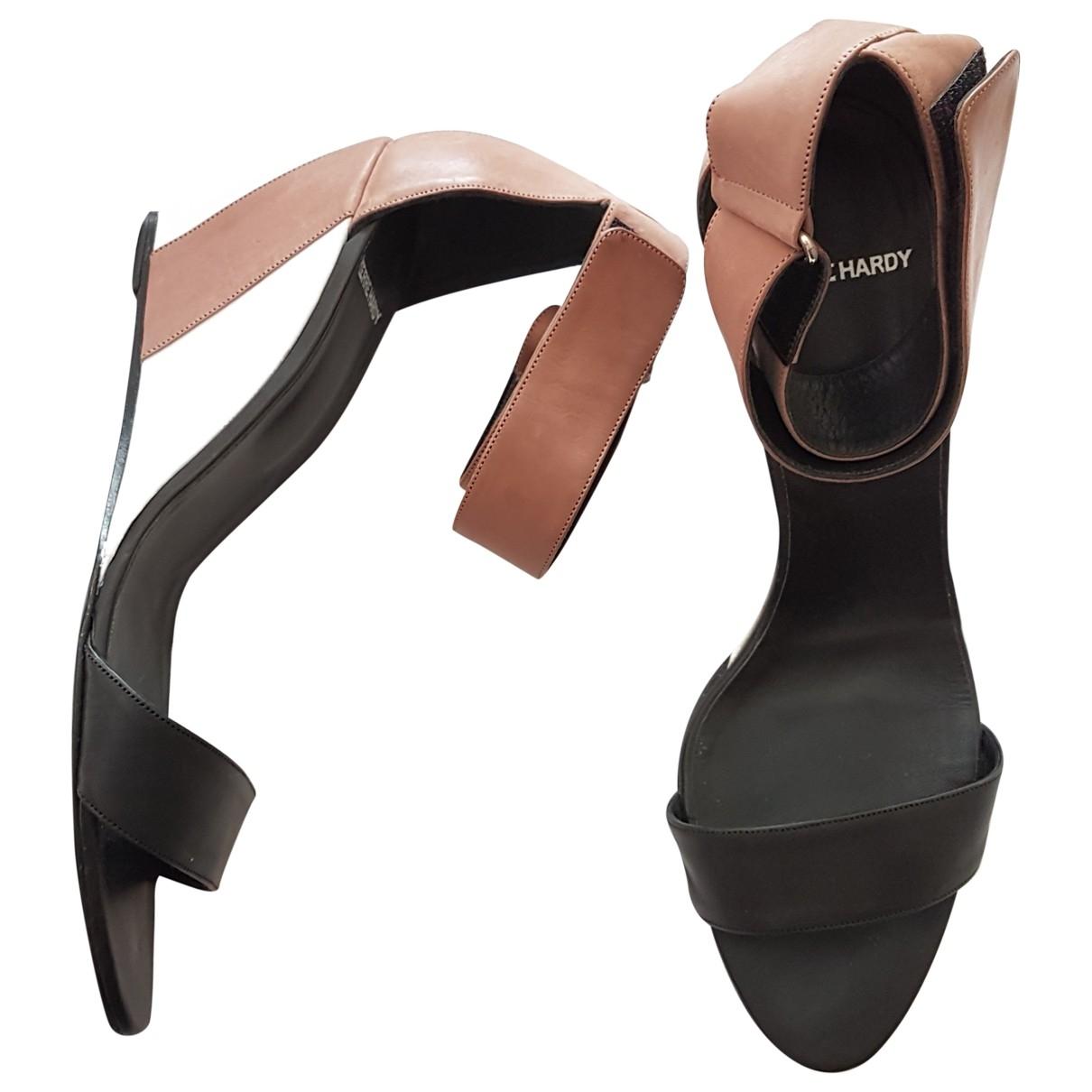 Pierre Hardy \N Beige Leather Sandals for Women 41 EU