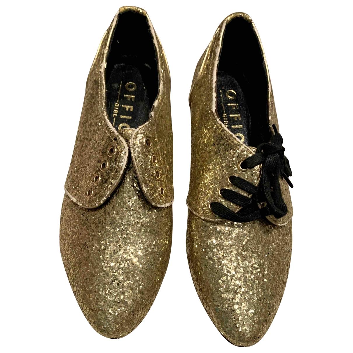 Office London \N Gold Glitter Flats for Women 37 EU