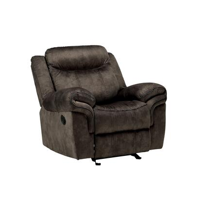 BM218580 Fabric Upholstered Metal Reclining Club Chair with Center Console