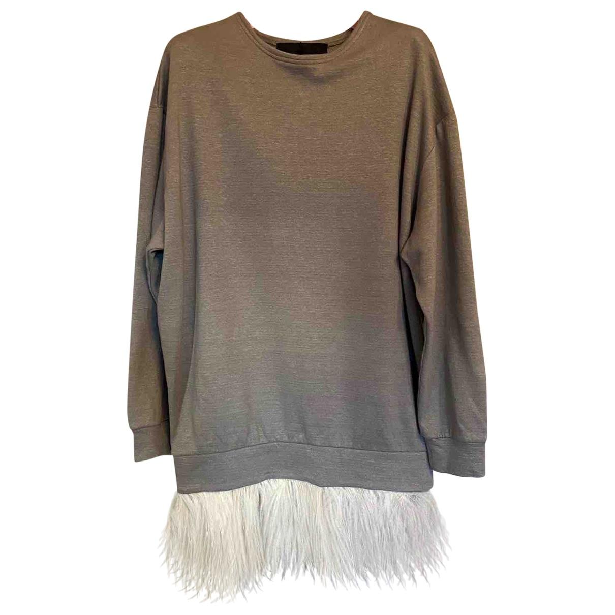 Jay Ahr - Robe   pour femme en coton - gris