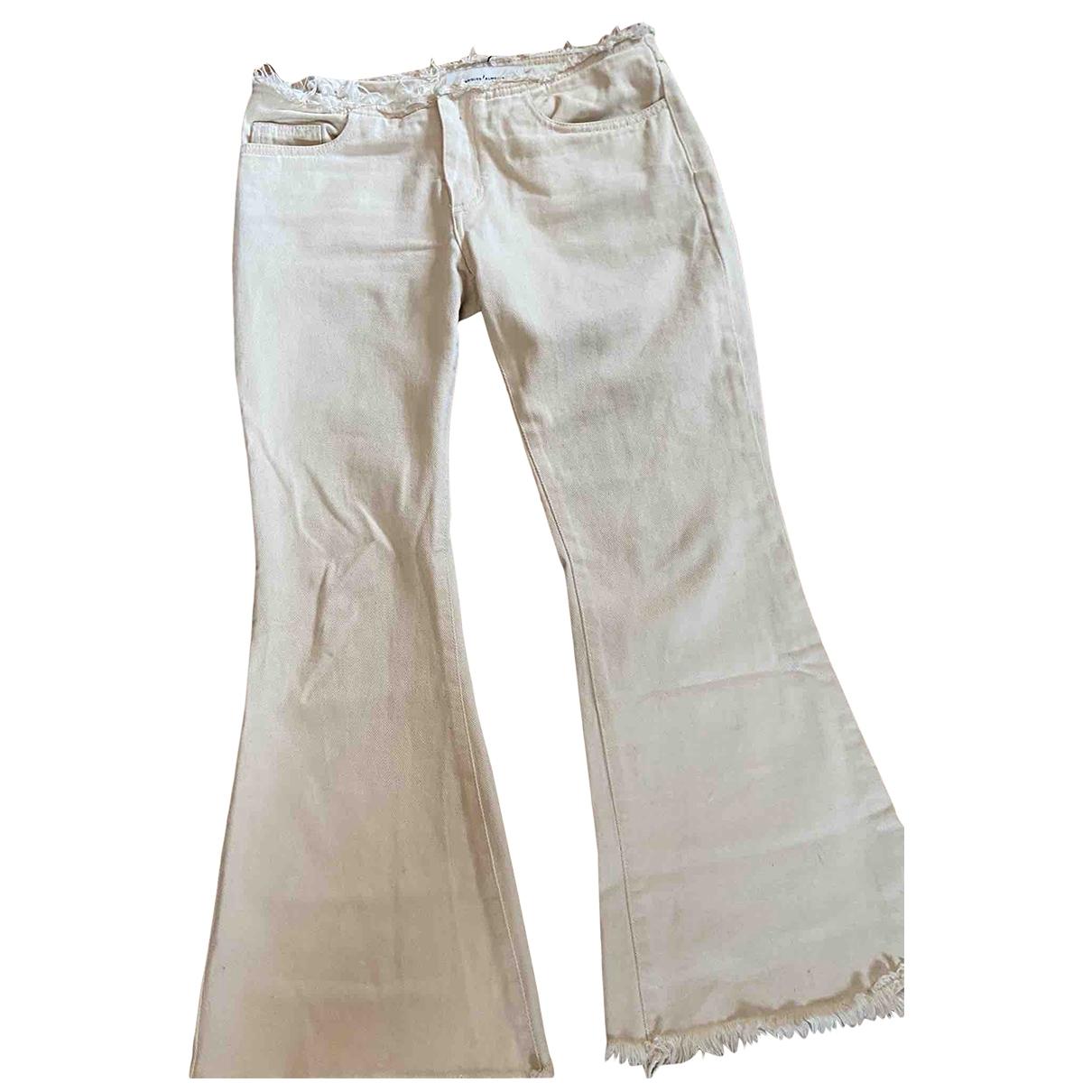 Marques Almeida \N White Denim - Jeans Jeans for Women 36 FR