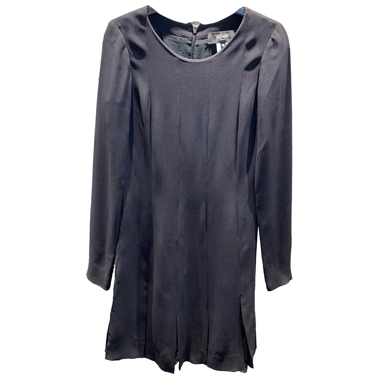 Azzaro \N Kleid in  Schwarz Polyester