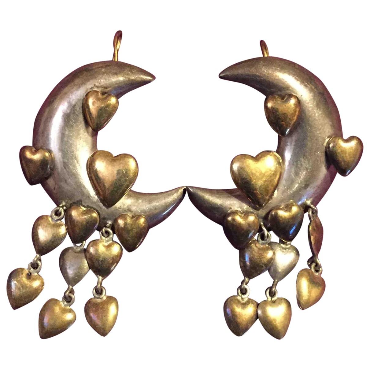- Boucles doreilles Motifs Coeurs pour femme en argent