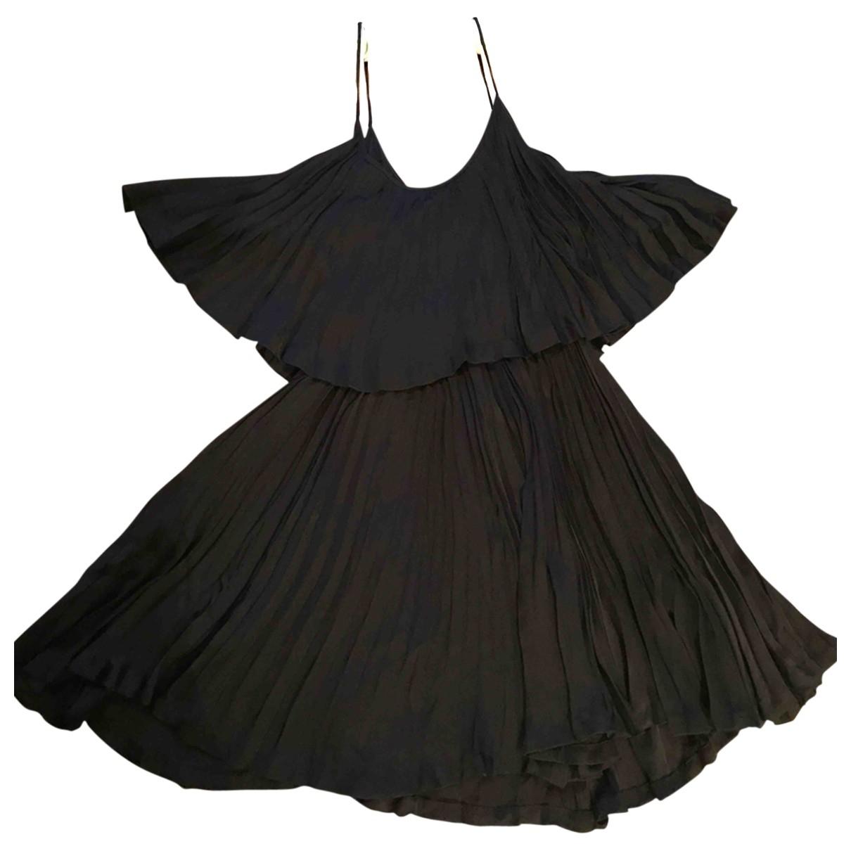 Halston Heritage - Robe   pour femme en soie - noir