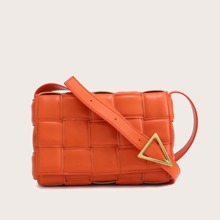 Braided Design Flap Crossbody Bag