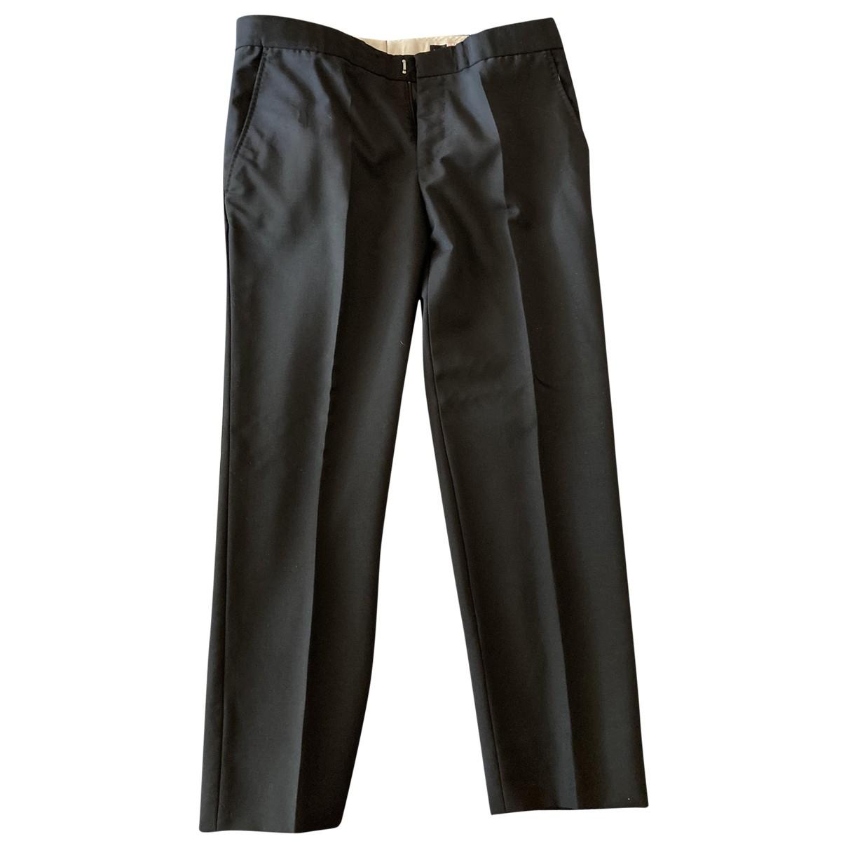 Alexander Mcqueen \N Black Wool Trousers for Men 48 IT