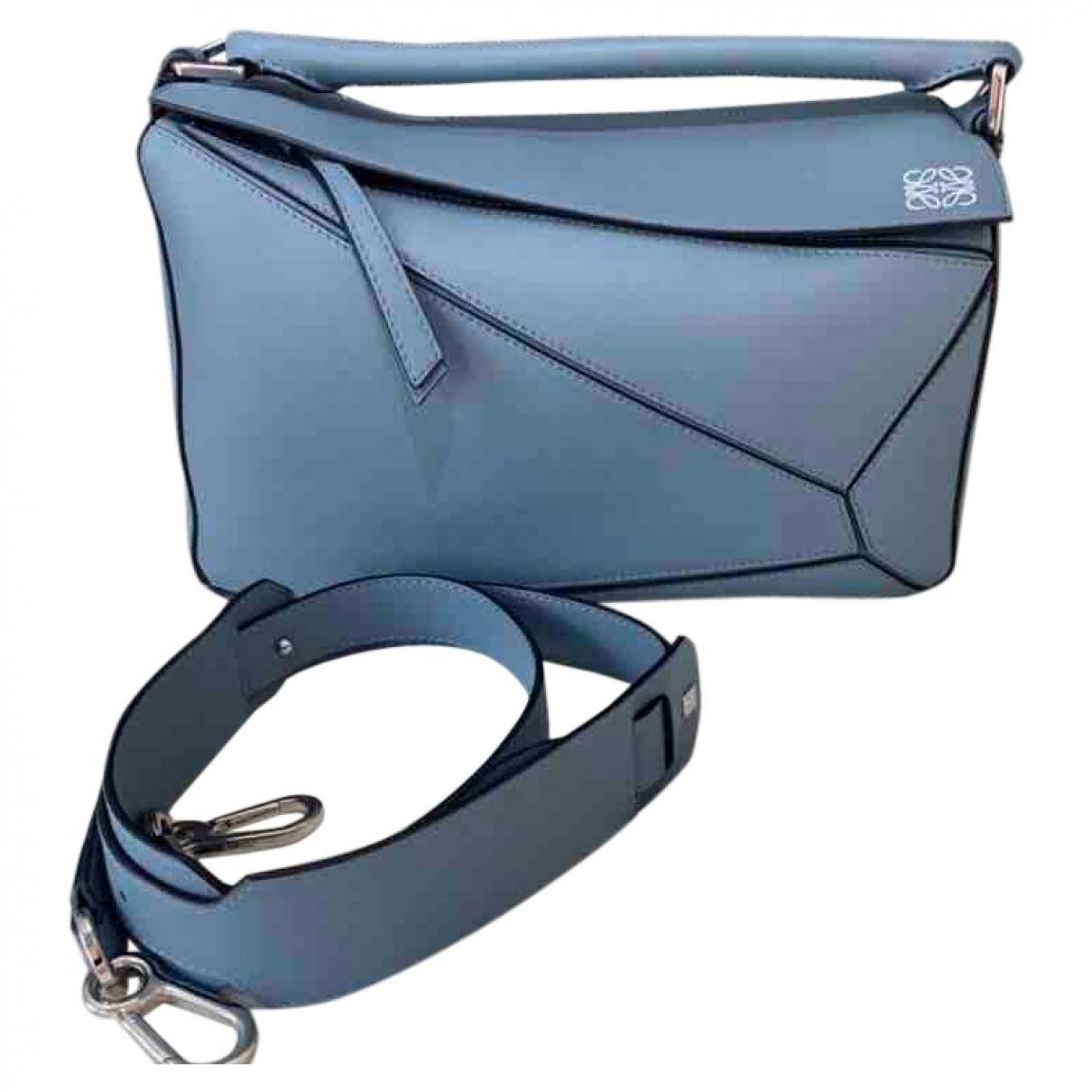 Loewe Puzzle  Handtasche in  Blau Leder