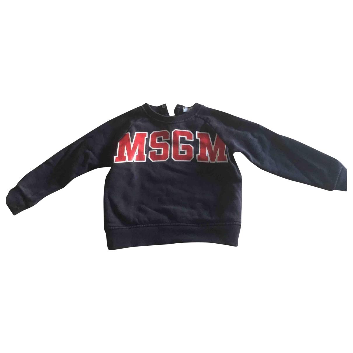 Msgm - Pull   pour enfant en coton - bleu