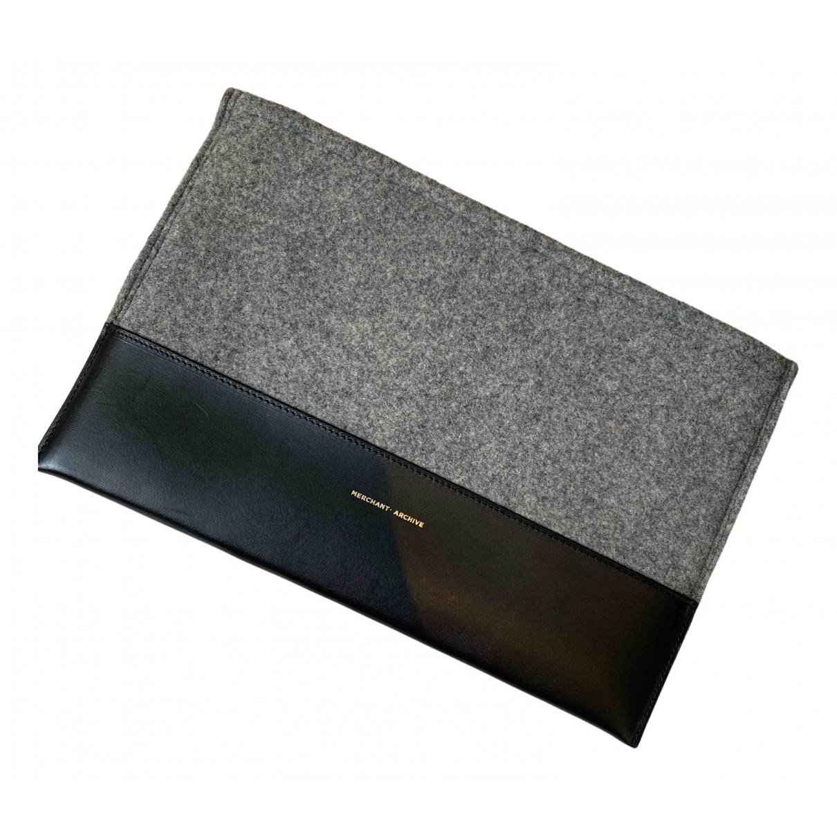 Merchant Archive N Grey Leather Clutch bag for Women N