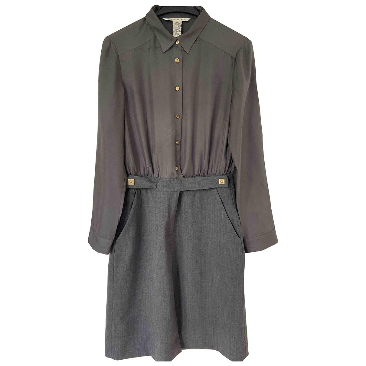 Diane Von Furstenberg \N Kleid in  Grau Seide
