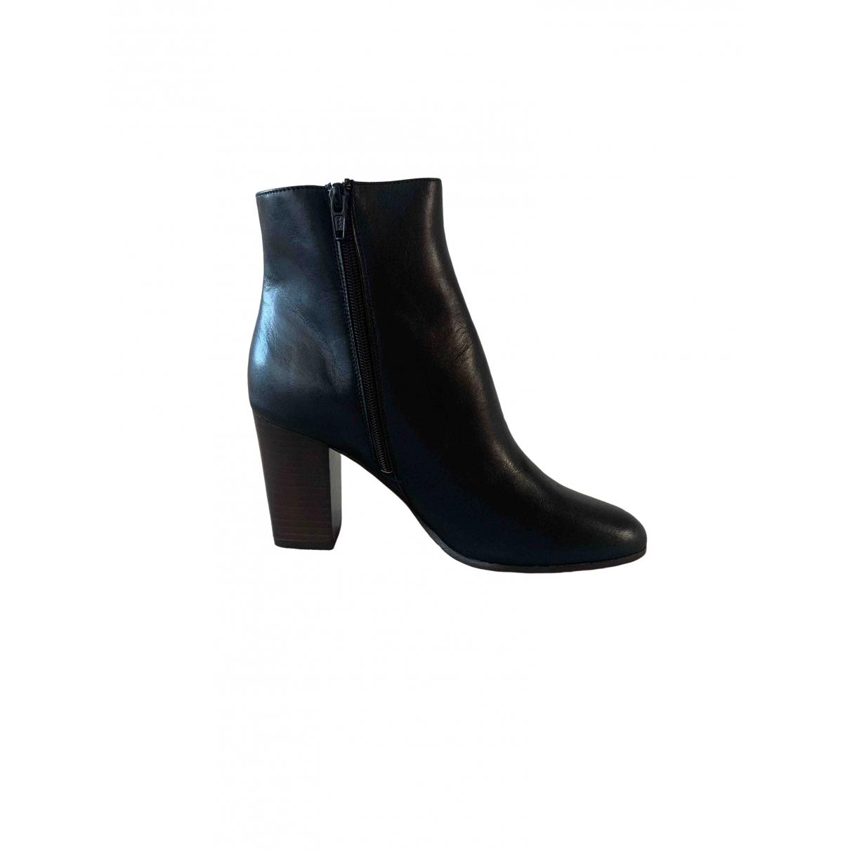 Maje - Boots Fall Winter 2019 pour femme en cuir - noir