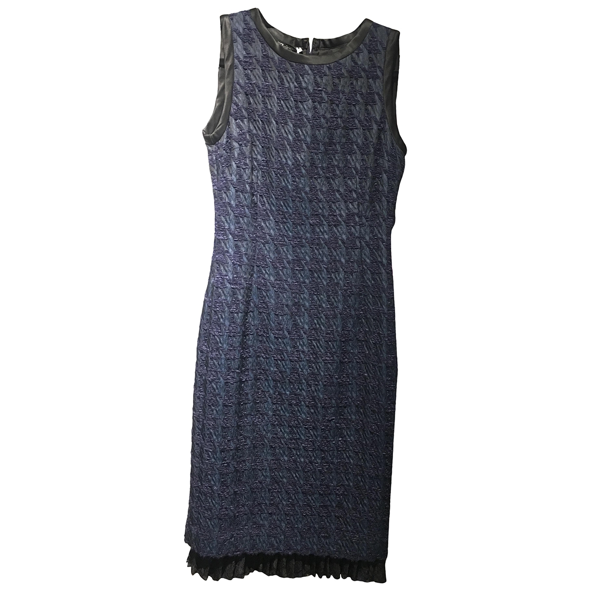 Dolce & Gabbana - Robe   pour femme en soie - bleu