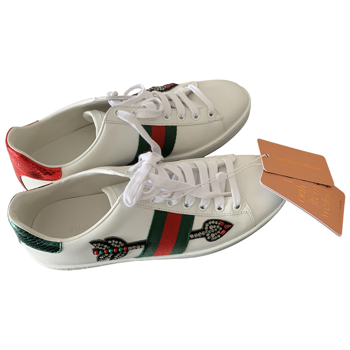Gucci Ace White Leather Trainers for Women 38 EU