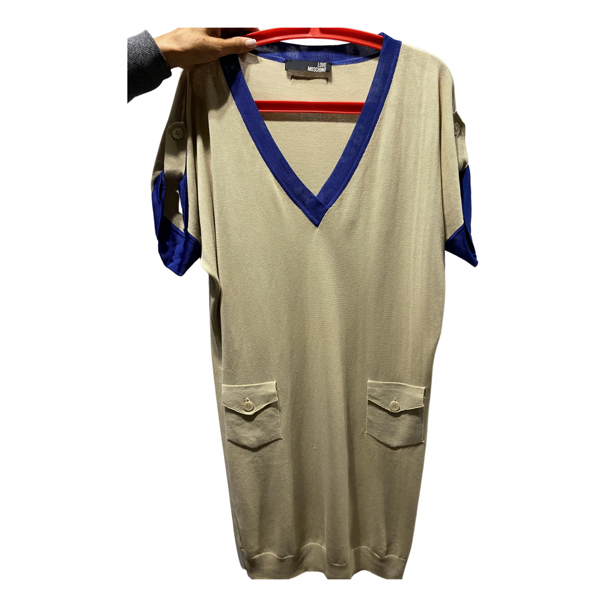 Moschino Love \N Kleid in  Beige Baumwolle