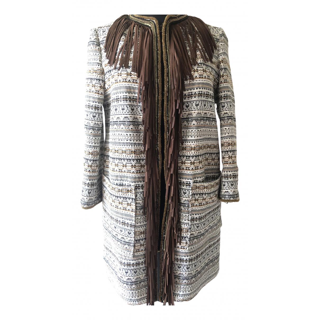 Bazar Deluxe - Manteau   pour femme en coton - blanc