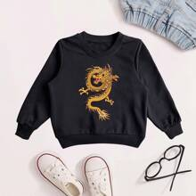 Sweatshirt mit chinesischem Drache Grafik