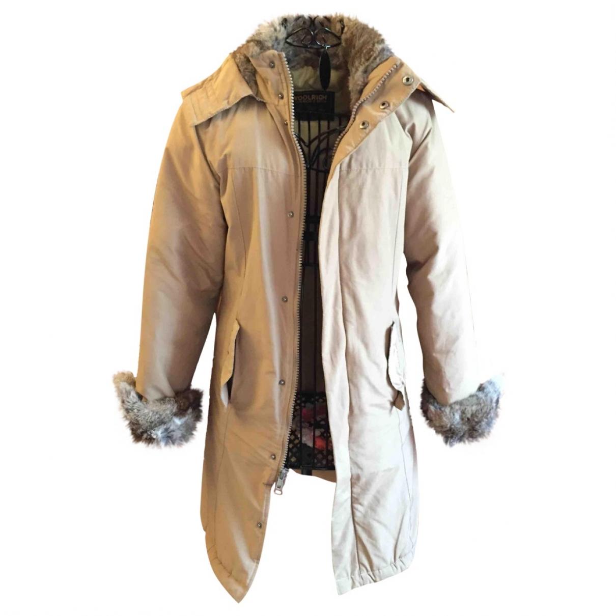 Woolrich - Manteau   pour femme - beige