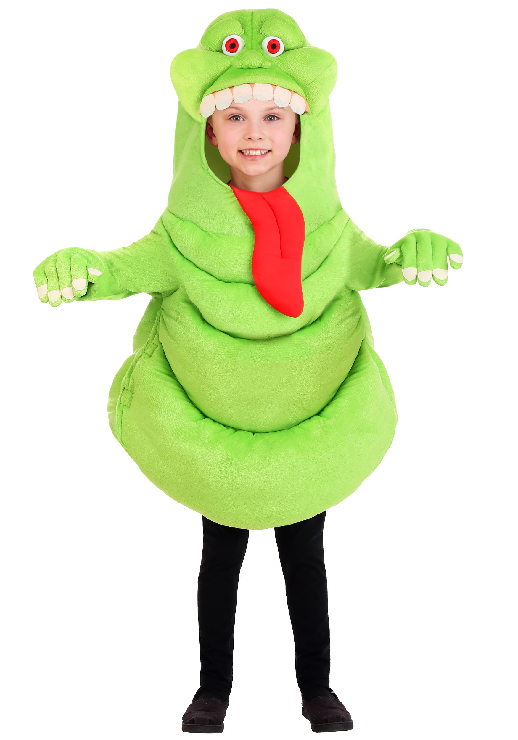 Kid's Ghostbusters Slimer Costume Tunic With Gloves