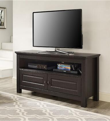 WQ44CSES 44 Wood TV Media Stand Storage Console with Two Doors and One Open Shelf  in