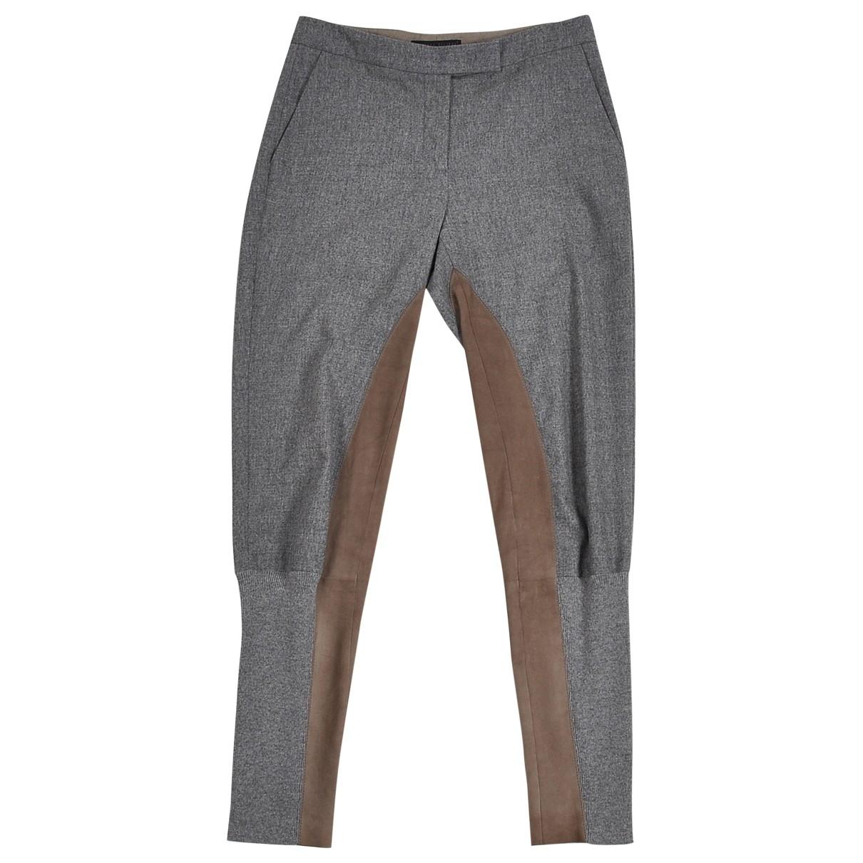 Fabiana Filippi \N Grey Wool Trousers for Women 40 IT