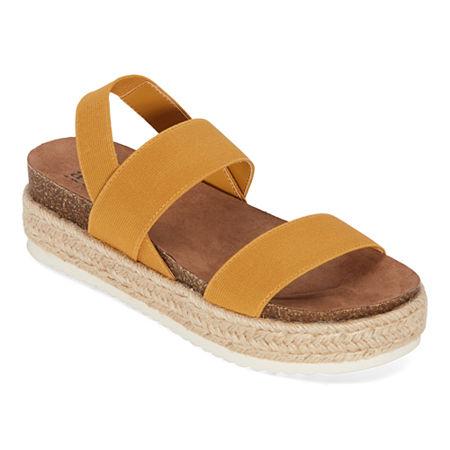 a.n.a Coy Womens Footbed Sandals, 9 1/2 Medium, Yellow