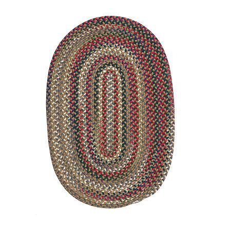 Colonial Mills American Pride Braided Oval Reversible Indoor Rugs, One Size , Beige