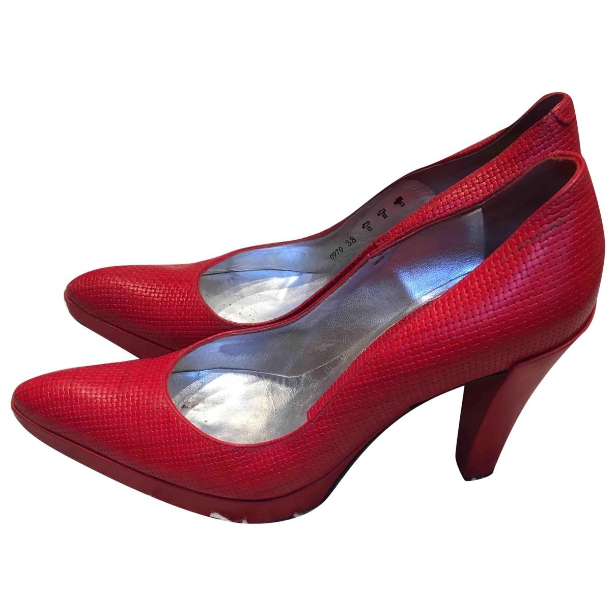 Free Lance - Escarpins   pour femme en cuir - rouge