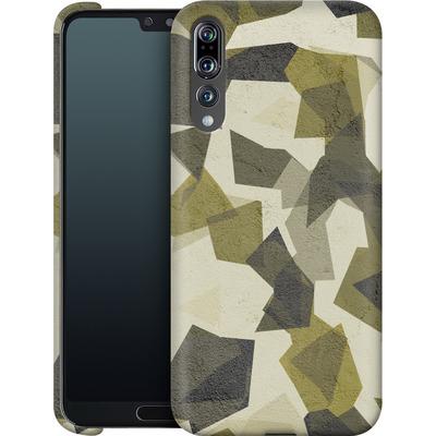 Huawei P20 Pro Smartphone Huelle - Geometric Camo Green von caseable Designs