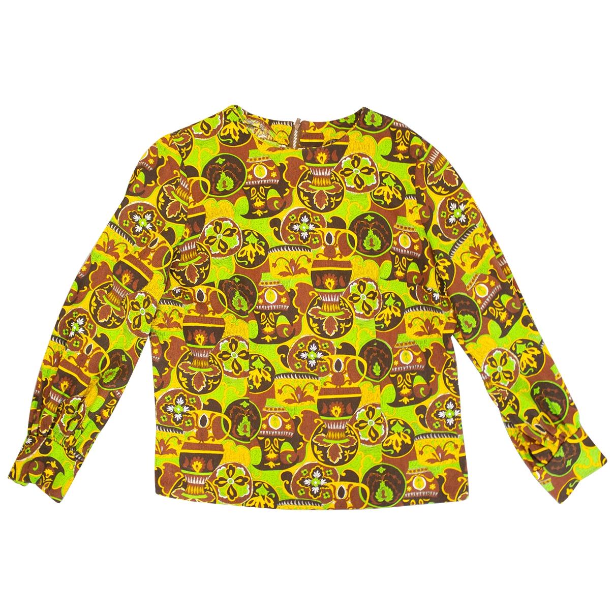 Non Signé / Unsigned Hippie Chic Multicolour Cotton  top for Women 12 UK