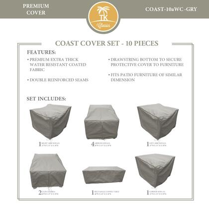 COAST-10aWC-GRY Protective Cover Set  for COAST-10a in