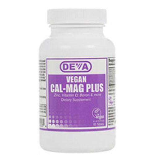 Vegan, Cal-Mag Plus 90 Tab by Deva Vegan Vitamins