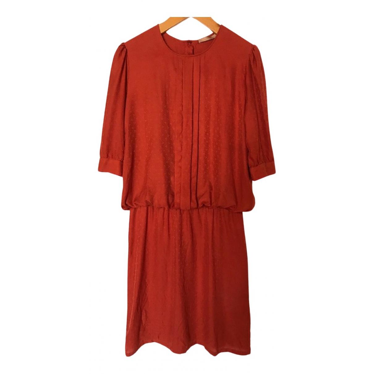 Sessun - Robe   pour femme en soie - rouge