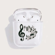 Music Note Clear AirPods Case