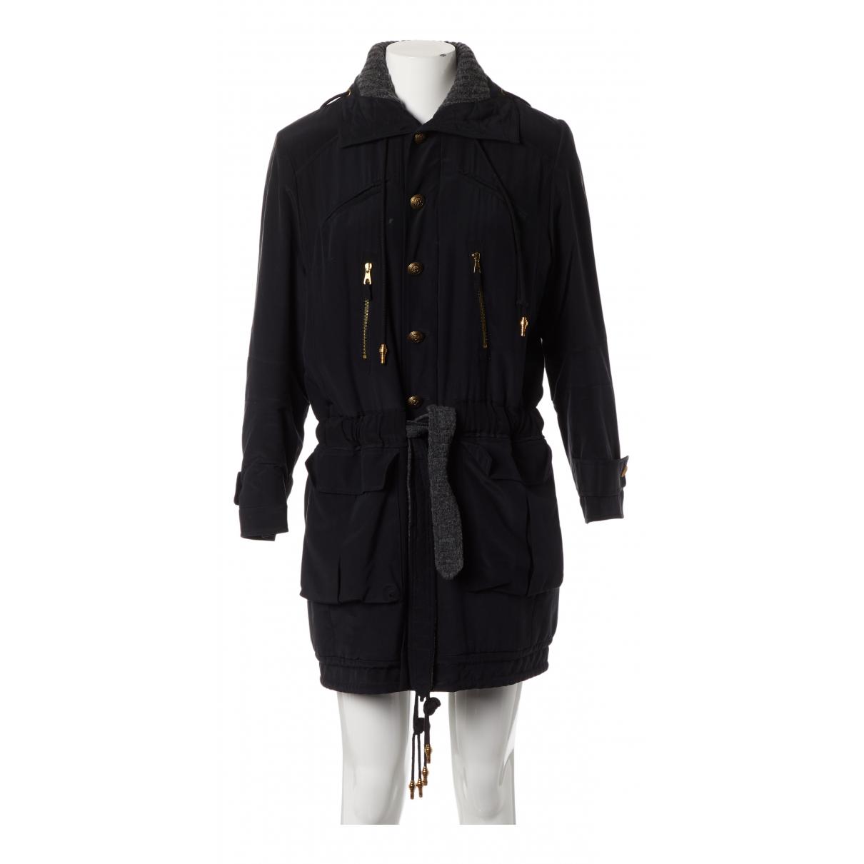 Balenciaga - Manteau   pour femme en soie - marine
