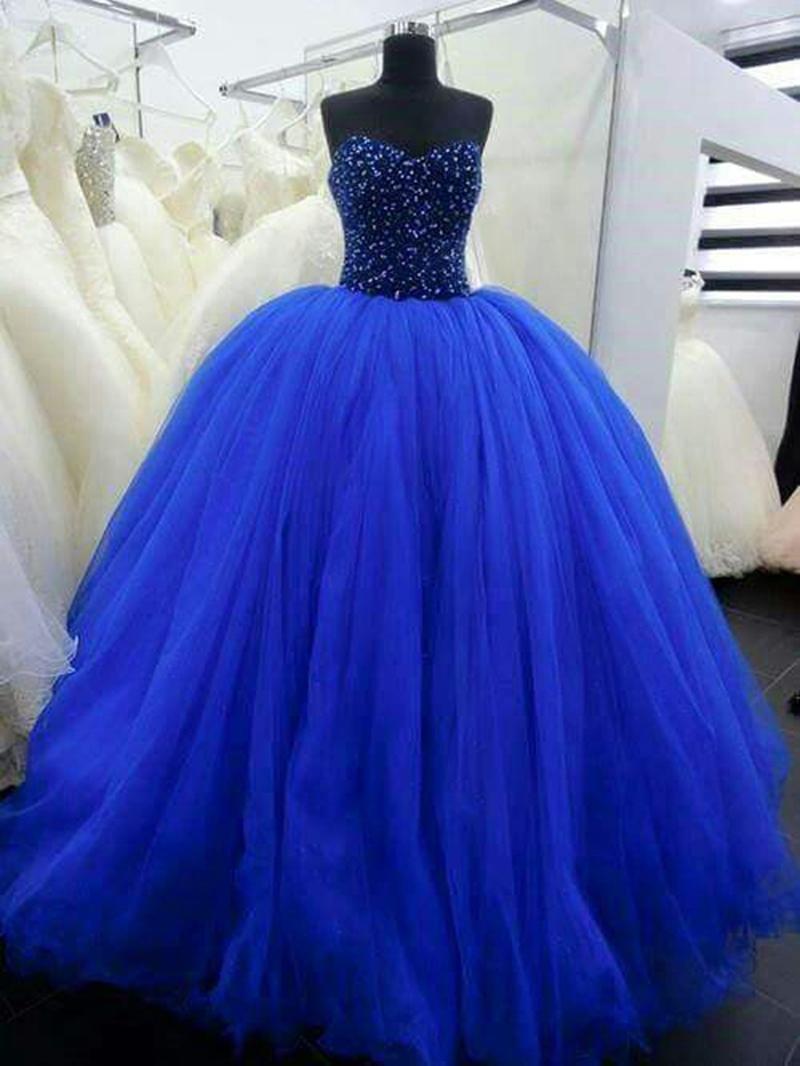 Ericdress Sweetheart Floor-Length Sequins Ball Gown Quinceanera Dress