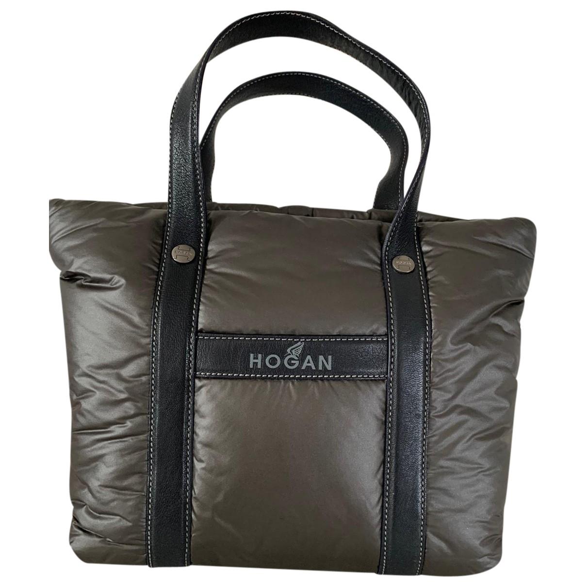 Hogan \N Handtasche in  Anthrazit Polyester