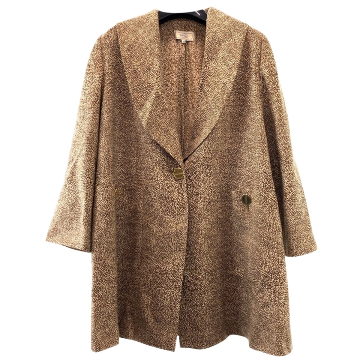 Non Signé / Unsigned N Brown Wool coat for Women 44 IT