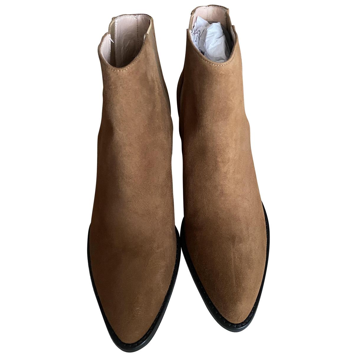 Inch2 - Boots   pour femme en suede - camel