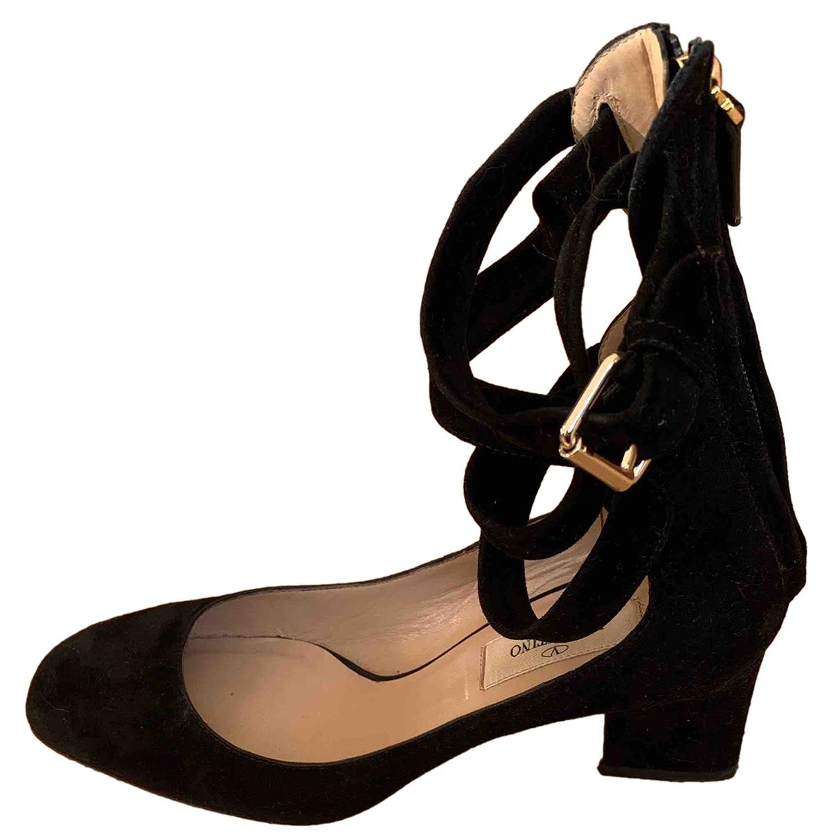 Valentino Garavani - Escarpins Tango pour femme en suede - noir