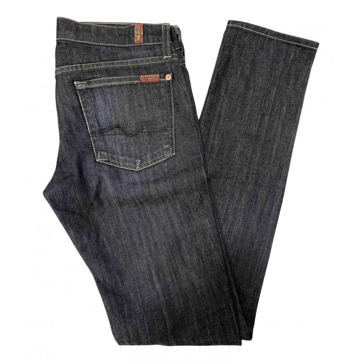 7 For All Mankind \N Blue Cotton Jeans for Women 28 US