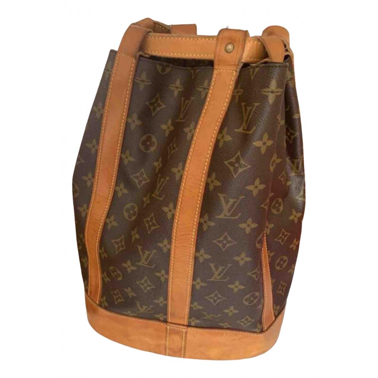Louis Vuitton Randonnee Handtasche in  Braun Leinen