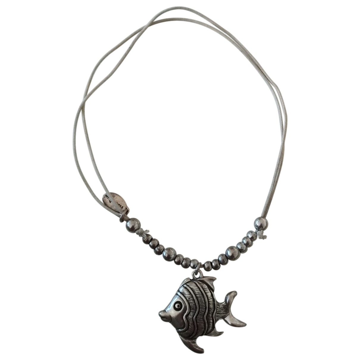 Non Signe / Unsigned Motifs Animaliers Kette in  Grau Silber