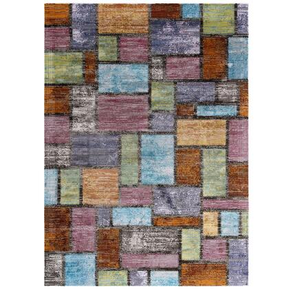 Success Collection R-1162A-810 Nyssa Abstract Geometric Mosaic 8x10 Area Rug in Multicolored