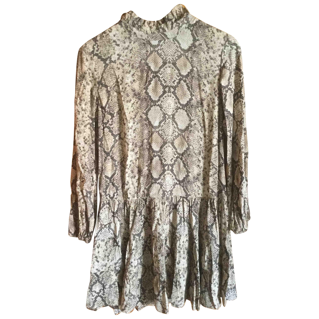 Zara \N Kleid in  Beige Synthetik